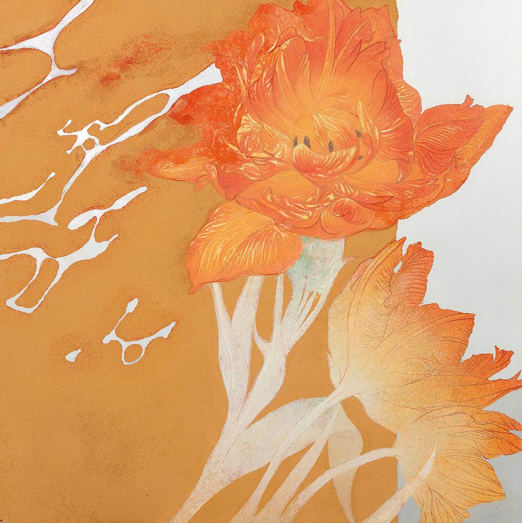 靖山画廊:青木惠「うたかたの」 金属板にアクリル、岩絵具、膠 9S