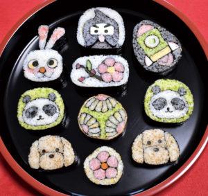 観て味わう飾り巻き寿司