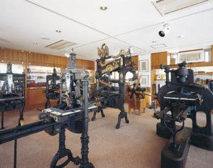 活版印刷機による印刷体験