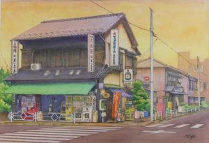 中央区の街並み絵画展