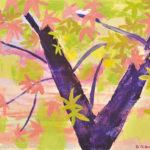 銀座 柳画廊:岡野 博「紅葉」油彩